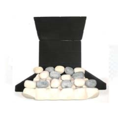 Focal Point Coal020 Ex Celsior Slimline Pebble Effect Ceramic Kit to fit the B&Q Aura Multiflue Inset