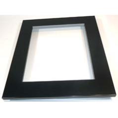 Focal Point F820082 Portrait Decorative Black Frame to fit the Screwfix Monet Flueless Black