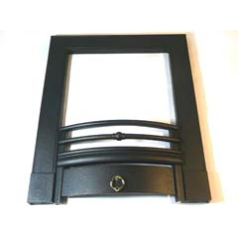 Focal Point F820273 Soho Black Frame to fit the B&Q Soho Multiflue Inset Black