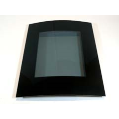 Focal Point F820325 Ebony Front Glass to fit the Screwfix Contemporary Ebony Flueless
