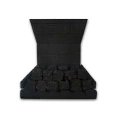 Focal Point Coal001 Complete Coal Effect Slimline Ceramic Kit to fit the B&Q Soho Multiflue Inset Black