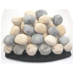 Focal Point Coal017 Full Depth Pebble Ceramic Kit to fit the Excelsior Radiant Pebble Effect Powaflue Inset